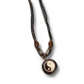 Coco Wood Yin Yang Necklace