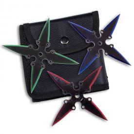 Colored Blade Shuriken Set