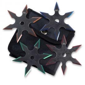 Colored-Blade Throwing Star Set