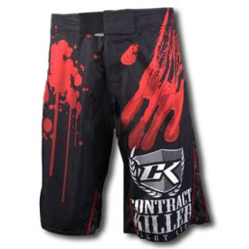 Contract Killer Black Stained Shorts