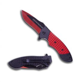 Crimson Grid Folding Knife