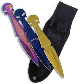 Dark Skull Multicolor Throwing Knives