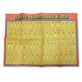 Detailed Nunchaku Kata Poster
