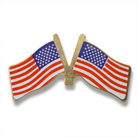 Double American Flag Lapel Pin