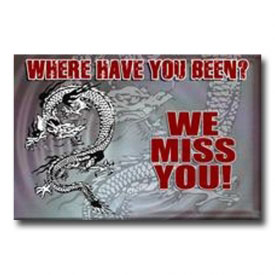 Dragon Miss You Postcard