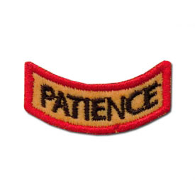 Excellent Patience Award Patch