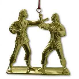 Female Kumite Christmas Ornament