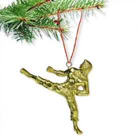 Female Sidekick Christmas Ornament