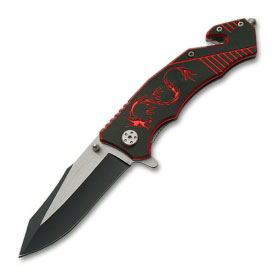 Fire Dragon Folding Knife