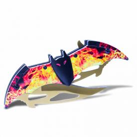 Flaming Bat Folding Knife