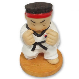 Focused Karate Figurine