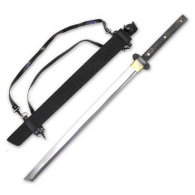 Full Tang Ninjato with Black Scabbard