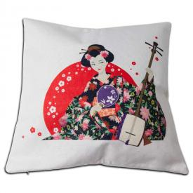 Geisha Throw Pillow Case