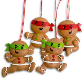 Gingerbread Ninja Ornament Set