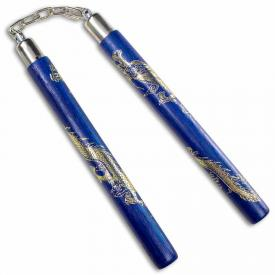 Gold Dragon Rattan Nunchaku