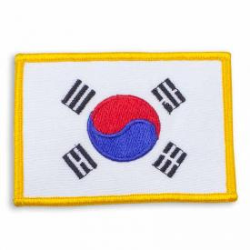 Gold Trim Korean Flag Patch