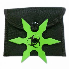Green Biohazard Ninja Shuriken