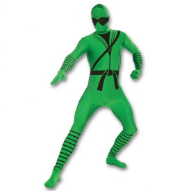 Kids Green Ninja Morph Suit
