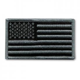 Grayscale American Flag Patch