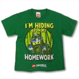 Hiding From Homework Ninja T-Shirt