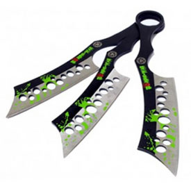 Infected Zombie War Throwing Knives
