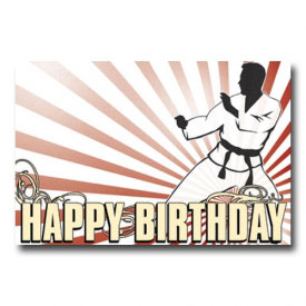 Karate Birthday Postcard