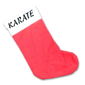 Karate Christmas Stocking