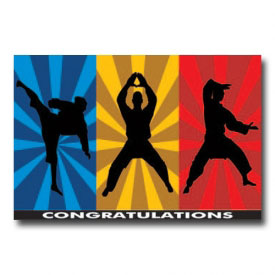 Karate Congratulations Postcard