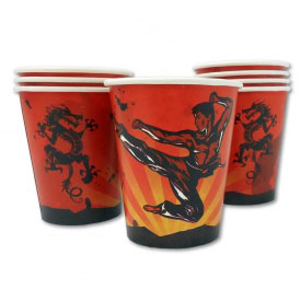 Karate Dragon Party Cups (8-Pack)