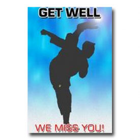 Karate Get Well Postcard