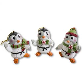 Karate Penguin Ornament Set