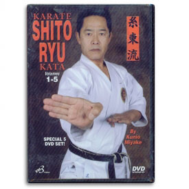Karate Shito Ryu Kata Volumes 1-5 (DVD)