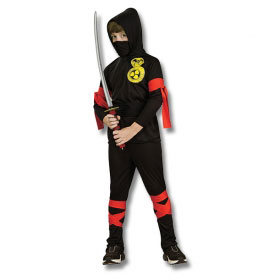 Bargain Black Ninja Costume