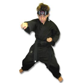 Kids Black Karate Costume