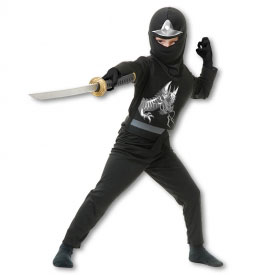 Kids Black Ninja Avenger Costume