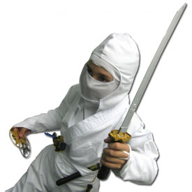 Kids Deluxe White Ninja Costume