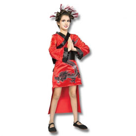 Red Dragon Girl Costume