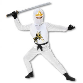 Kids White Ninja Avenger Costume
