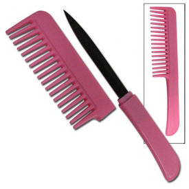 Lady's Pink Comb Knife