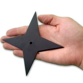 Lightweight Carbon Steel Throwing Star
