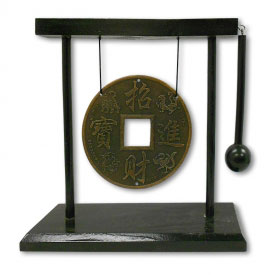 Lucky Coin Table Gong