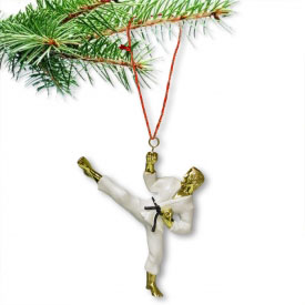 Male Sidekick Christmas Ornament