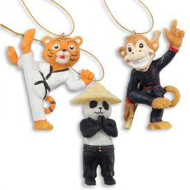 Martial Arts Animal Ornaments