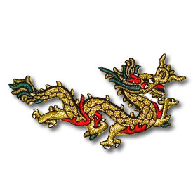 Metallic Gold Dragon Patch