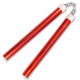 Metallic Red Aluminum Nunchaku