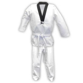 Middleweight Taekwondo Uniform with Black V-neck