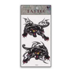 Mighty Panthers Spirit Animal Temporary Tattoo