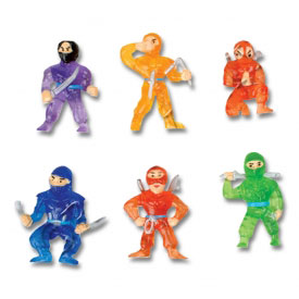 Mini Rubber Ninjas (6-Pack)
