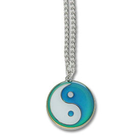 Mood changing yin yang necklace color changing ying yang necklaces mood changing yin yang necklace aloadofball Images