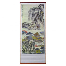Mountain Pagoda Wall Scroll
